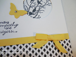 Stampin'UP!'s perfect color match of paper and ribbon