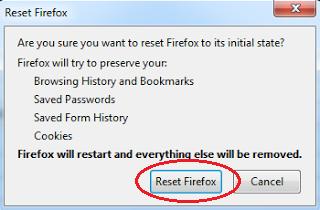 Cara Reset Browser Mozilla Firefox Ke Pengaturan Awal