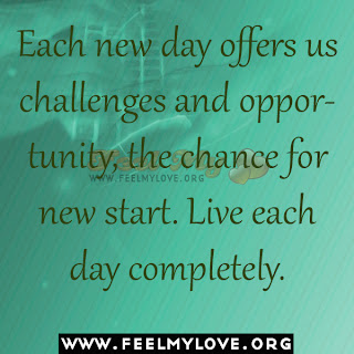Each new day offers us challenges