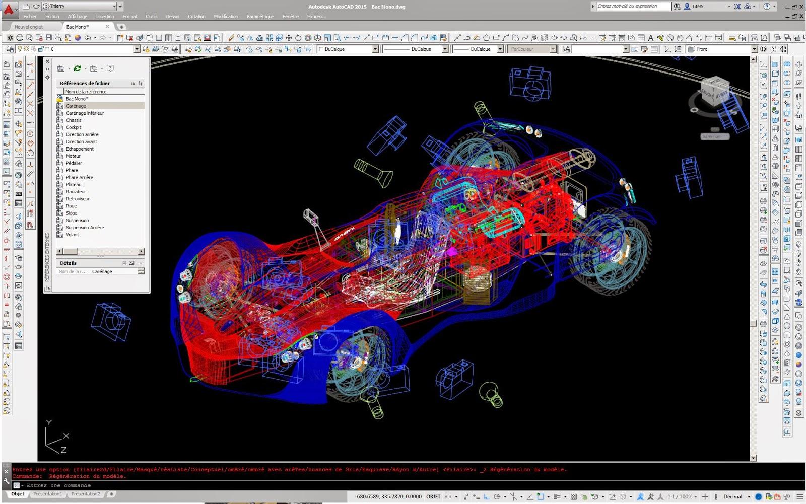 Dessindus voiture sport - Voiture 3d dwg ...