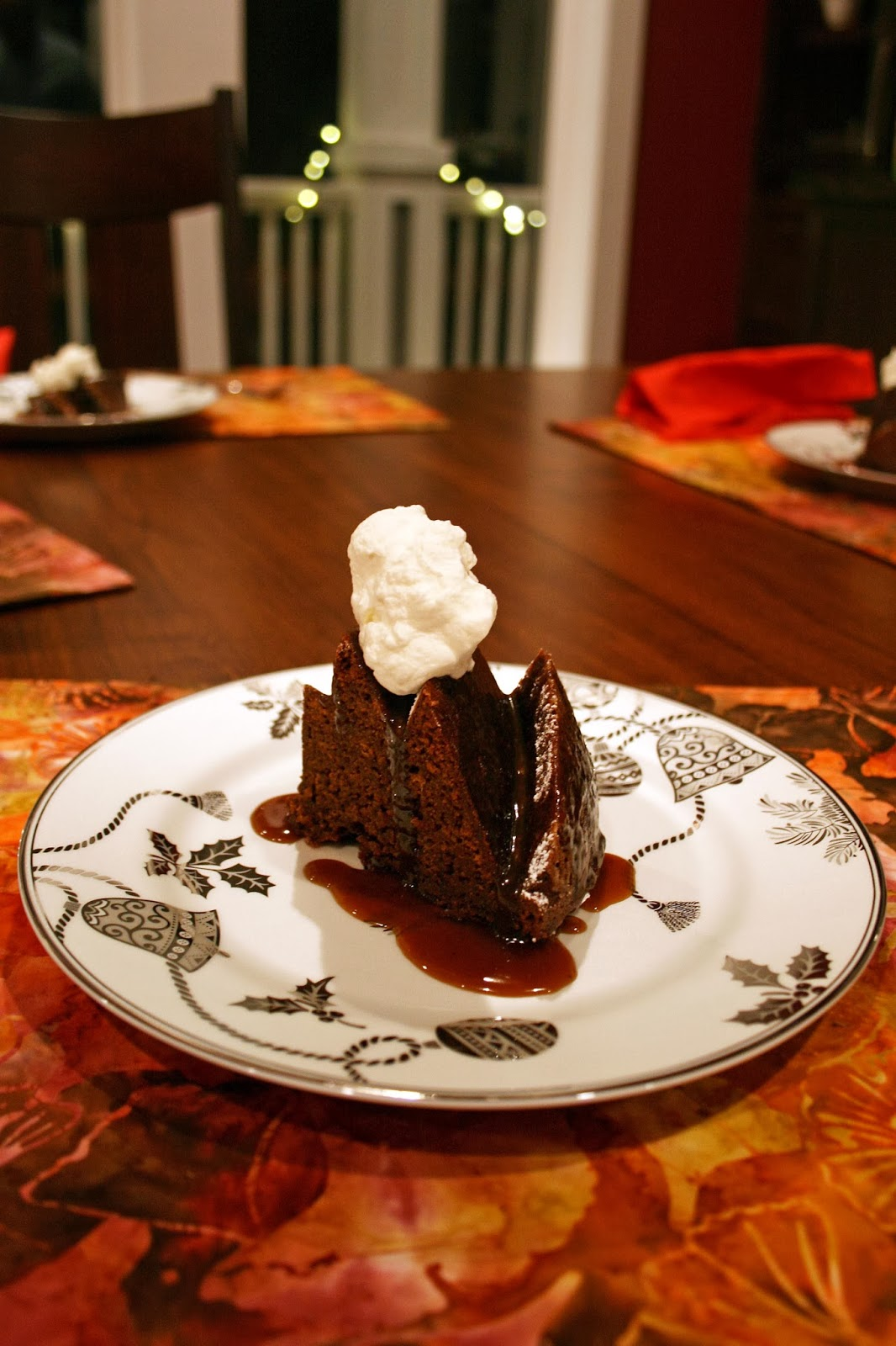 one clever mom: Gingerbread Bundt Cake with Pear Caramel Glaze