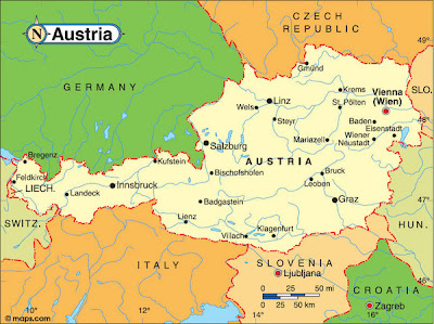 Map of Austria Region Country