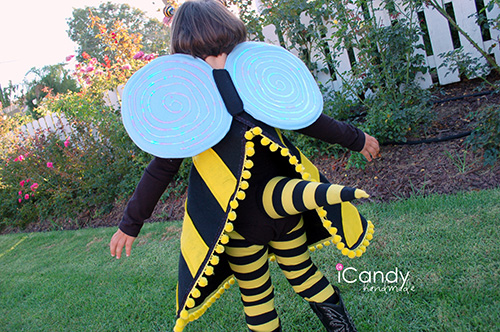 Bumble bee costume icandy handmade felt because its cheap and so forgiving and then embellished with a few different odds and ends i had so much fun putting this costume together solutioingenieria Choice Image