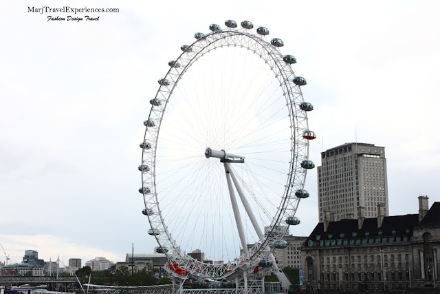 London Eye in South Bank of London City England