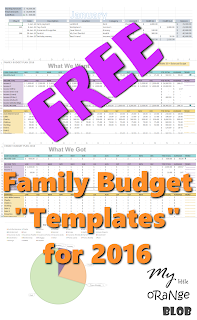 "Free Family Budget ""Templates"" for 2016"