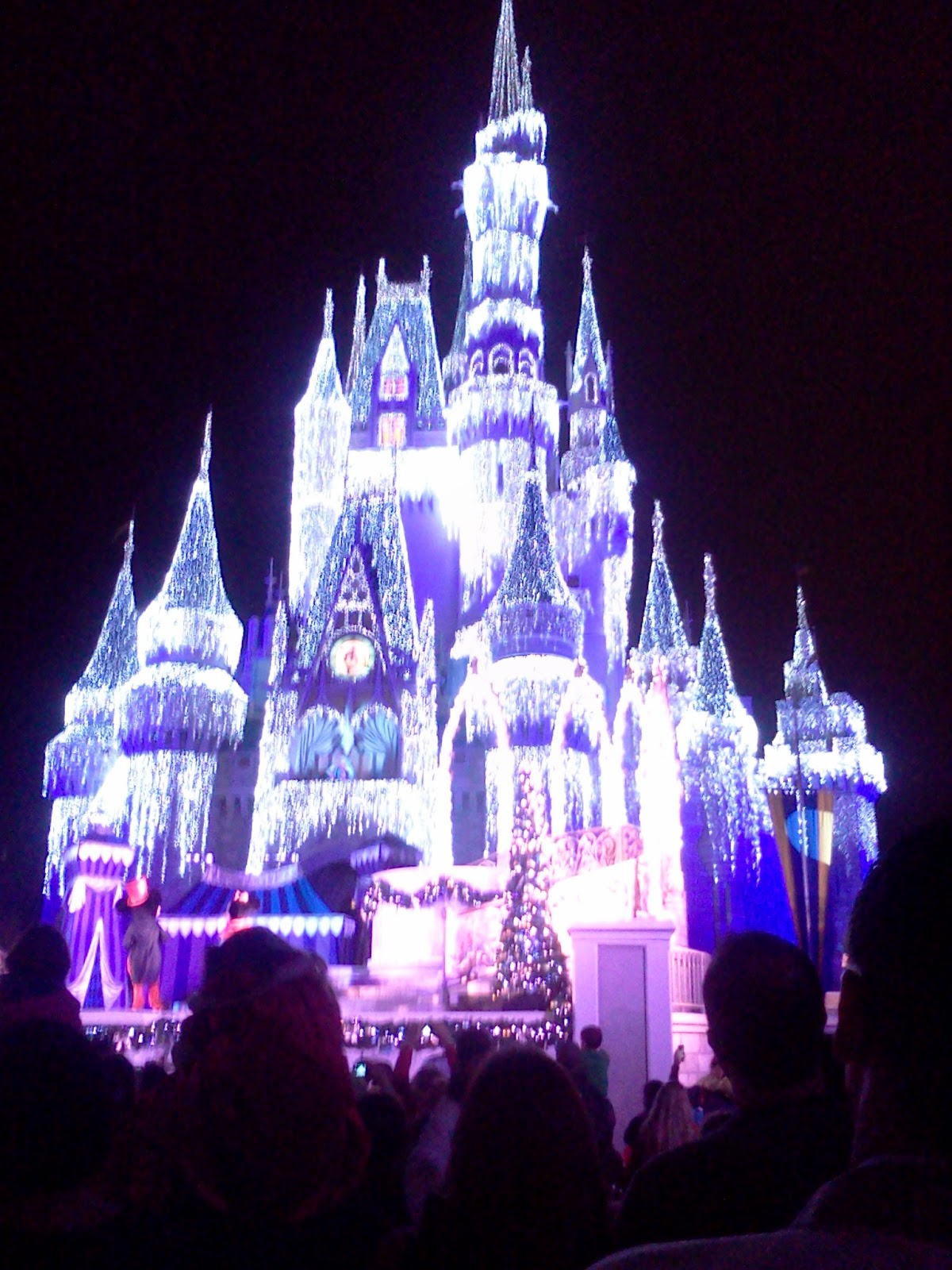 the castle in all its festive glory - Mickeys Very Merry Christmas Party Reviews