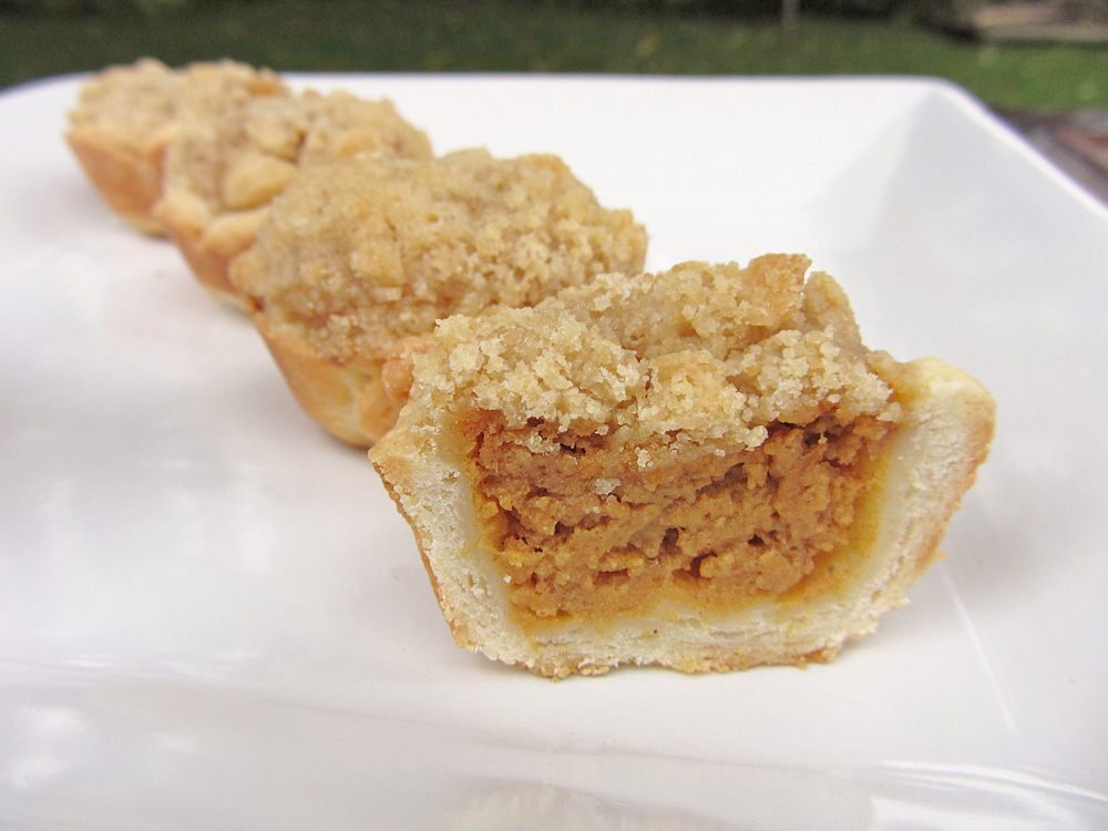 Thanksgiving Week Day 7 - Mini Pumpkin Tarts | Once Upon a Cutting ...