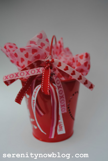 """Serenity Now: Simple Valentine's """"Hugs and Kisses"""" Bucket"""