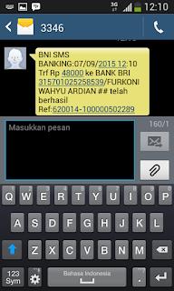 Cara Praktis SMS Banking BNI Ke BRI