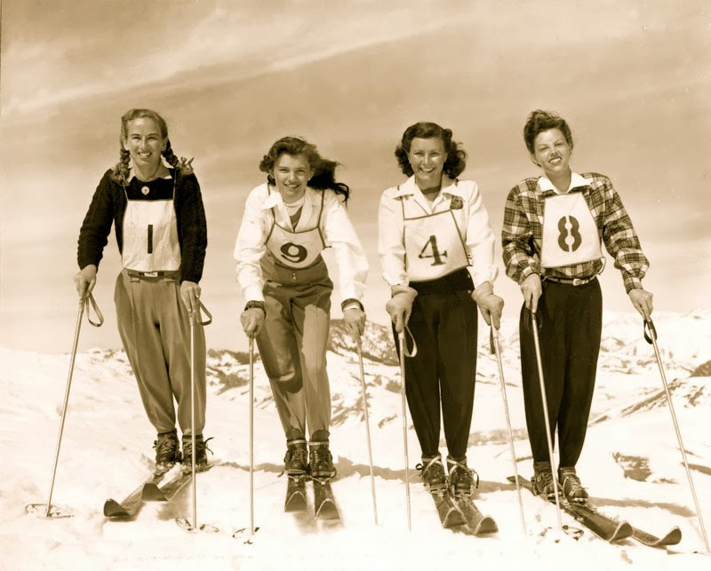 {Sports} 1948 Winter Olympics Women's ski team