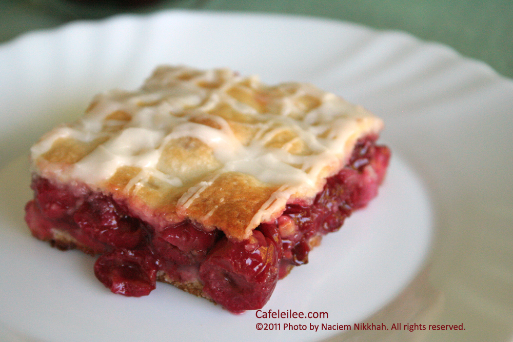 ... Persia to Bay Area: Sour Cherry Slab Pie پای نازک آلبالو
