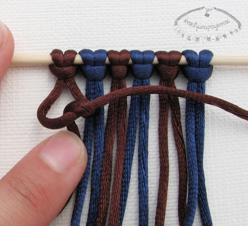 węzeł rypsowy - makrama - 5