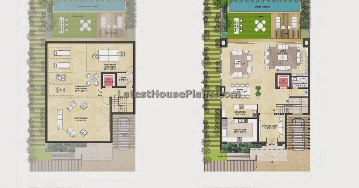 5 Bhk Duple House Plan In 7000 Sqft Area Latest House