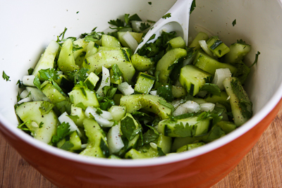 Asian Cucumber Salad Recipe with Cilantro and Vidalia Onions (Low-Carb ...