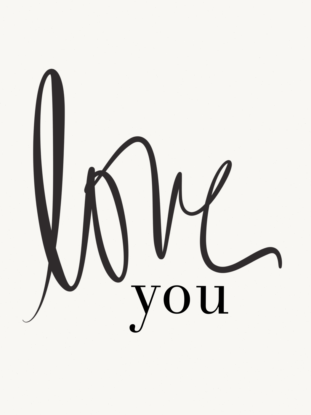Avery Street Design Blog: free printable // love you