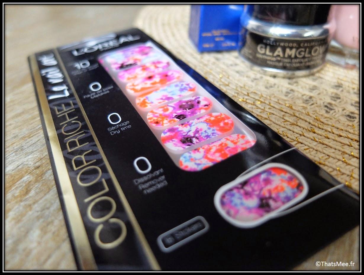 planche nail art psyché tie&dye L'Oréal Color riche