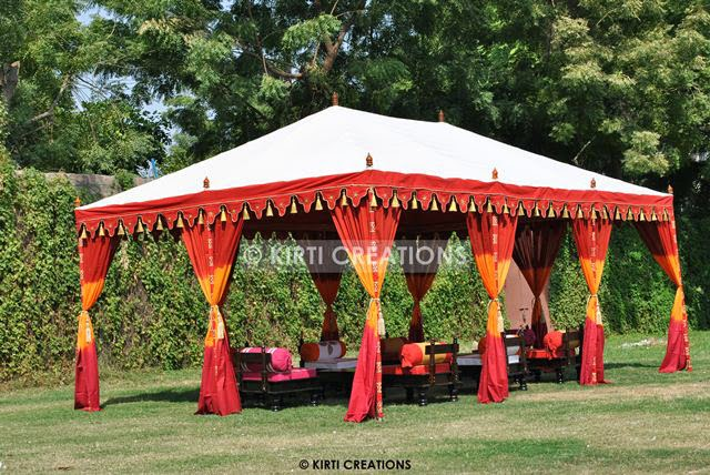 Handcrafted Party Tents -Handcrafted Party Tent offered by us gives a lavish touch to your surroundings and adds charm to your decor. & Raj Tent-Tent Manufacturers: Various Forms Of Party Tent