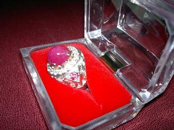 Cincin Perak Permata Delima Asli - RM2800
