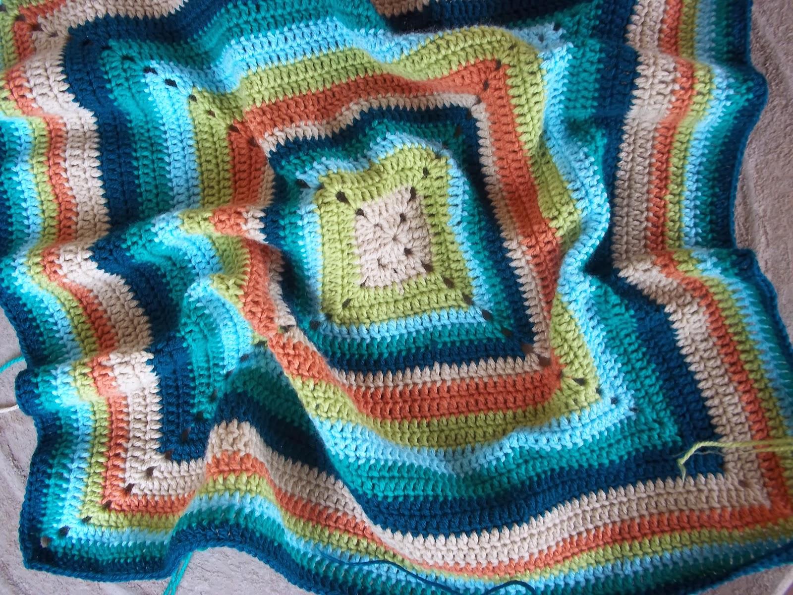 Вязание крючком из остатков пряжи коврик 20