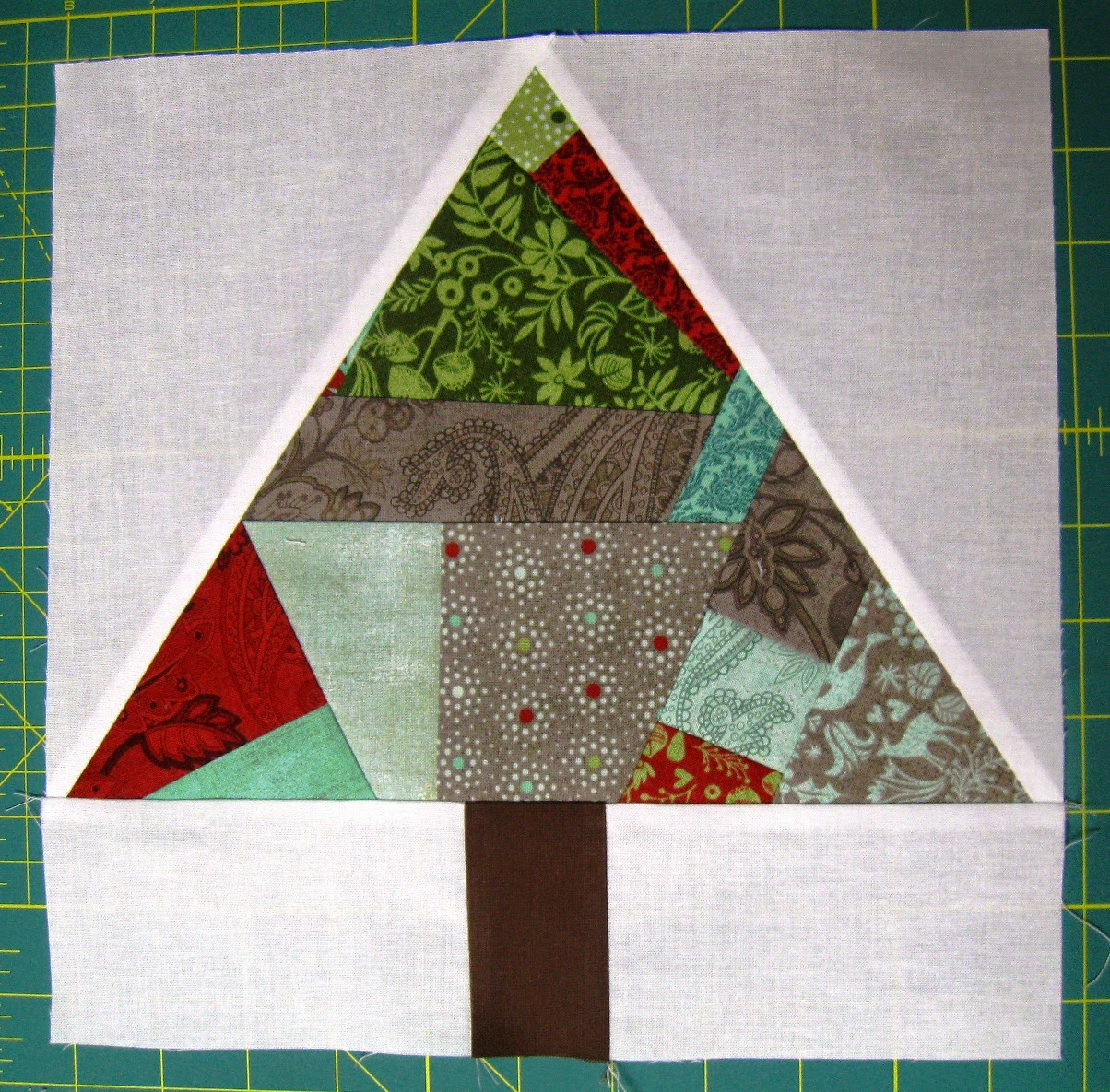 Happy Quilting Paper Pieced Improv Trees O Christmas Trees Tutorials