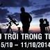 Bầu trời trong tuần từ 5/10 tới 11/10/2014