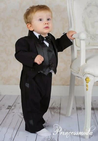 Costume de Baptême pour bébé garçon