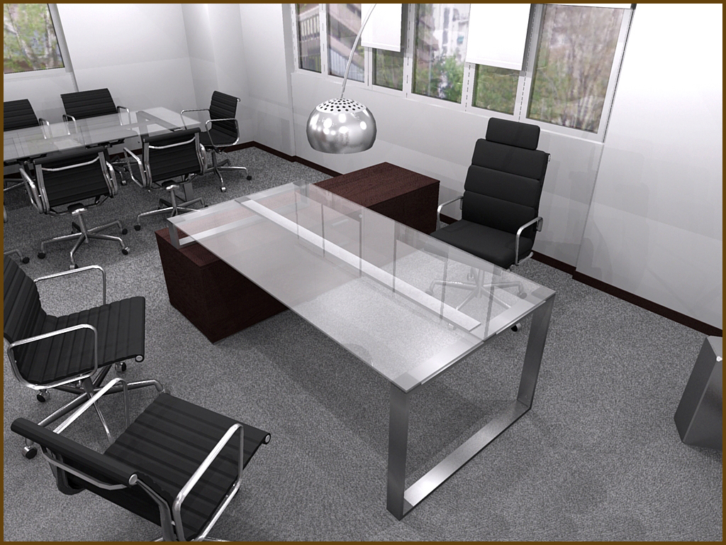 Original 3d Models Office Furniture  Office Table And Chair