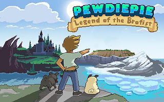 Screenshots of the Pewdiepie: Legend of the Brofist for Android tablet, phone.