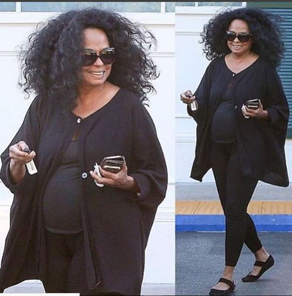 Diana Ross big stomach bulge at 71 gets the fans talking pregnancy.