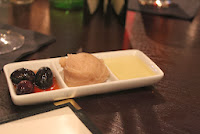 Olives, hummus, and oil at 29 Sudbury, Sudbury, Mass.