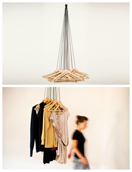 Cool Hangers repurpose: hang on to your wood hangers! | the refab diaries
