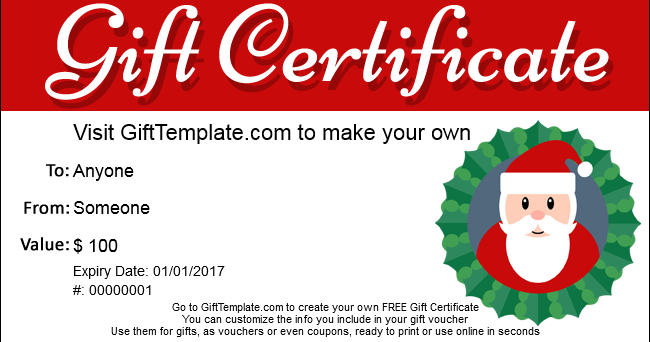 Ubuntu Corner Make Free Christmas Gift Certificates – Make Gift Vouchers Online Free