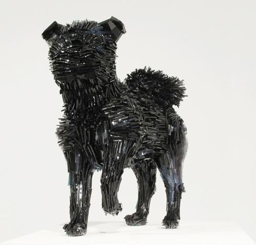 Marta-Klonowska-Animal-Glass-Shard-Sculpture-La-Marquesa-de-Pontejos-afte- Francisco-de Goya-1b