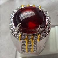 Cincin Batu Permata Red Almandine Garnet