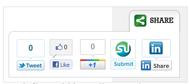 Slick Social Share Buttons Plugin