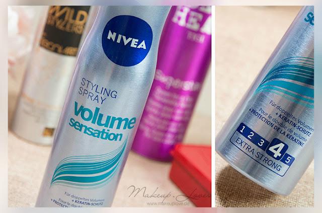 Styling Haarspray Haarpaste Volumenspray Volumen feines dünnes Haar Nivea styling spray volume sensation