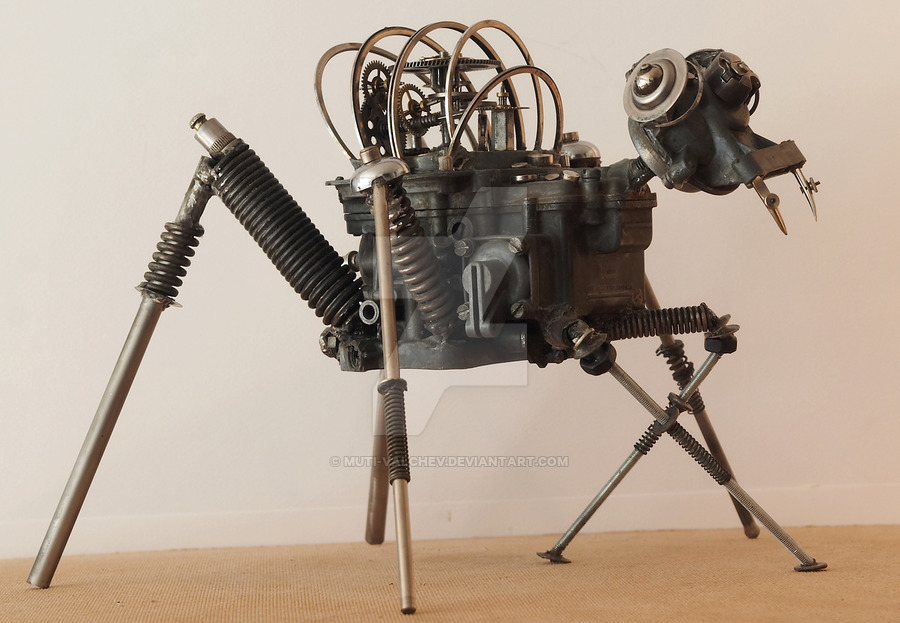 16-Spider-dog-Dimitar-Valchev-Recycled-Animal-and-Insect-Sculptures-www-designstack-co