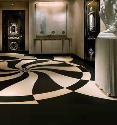 black and white marble flooring designs ideas for  living room interior