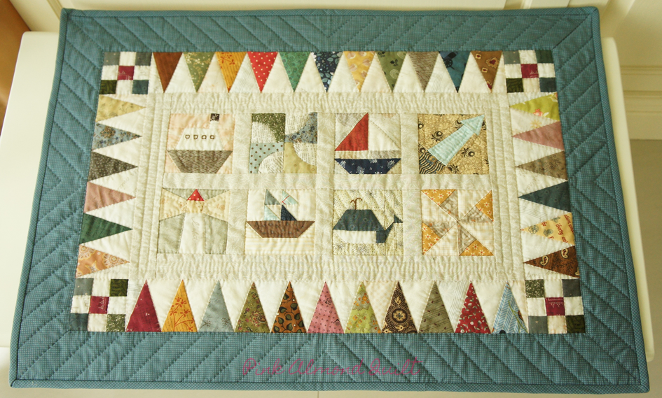 Sea Themed Wall Hanging by Pink Almond Quilt