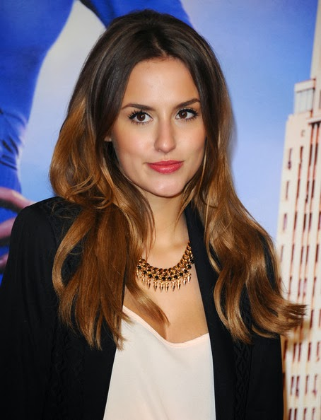 Lucy Watson Long Center Part Hairstyle