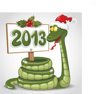 干支の蛇を描いた漫画風イラスト 2013 New Year snake backgrounds and illustrations in cartoonish style イラスト素材4
