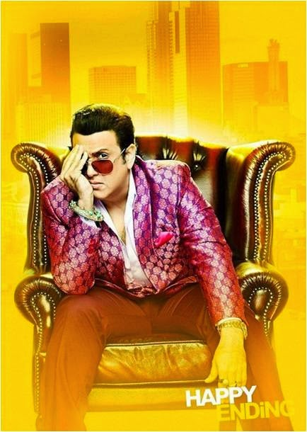 Govinda sitting on chair as director Armaan in Happy Ending movie still