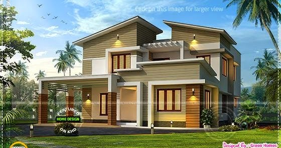modern green home designs modern view home in 3350 sqfeet kerala home design and floor plans