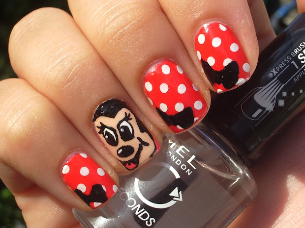 craft nail minnie mouse - disney