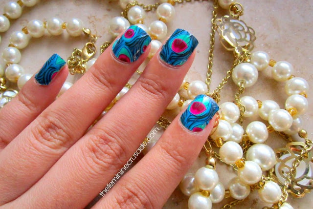 Lazy Nails Peacock Nail Wraps