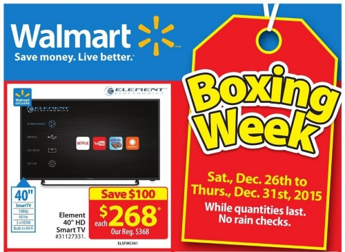 Walmart Canada Sneak Peek Boxing Day Flyer 2015