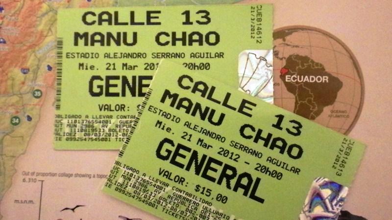 Lama et sac dos concert calle 13 manu chao - Manu chao le petit jardin youtube ...