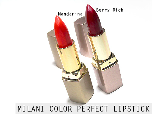 Milani Mandarina and Berry Rich Lipstick