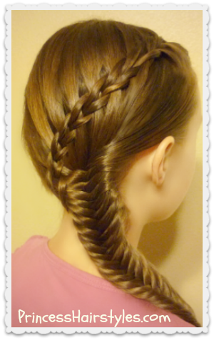 Scissor Waterfall Braid With Fishtail Hairstyle Tutorial