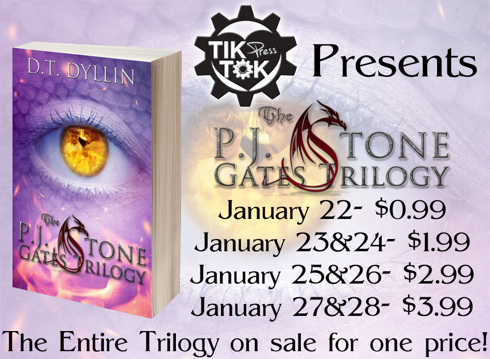 {Book Blitz} P.J. Stone Gates Trilogy by D.T. Dyllin